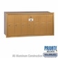 Salsbury 3507BRP Vertical Mailbox - 7 Doors - Brass - Recessed Mounted - Private Access