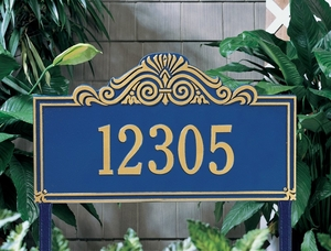 Whitehall Villa Nova Estate Lawn Address Sign - One Line
