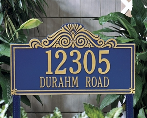 Whitehall Villa Nova Estate Lawn Address Sign - Two Line