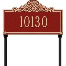 Whitehall Villa Nova Standard Lawn Address Sign - One Line