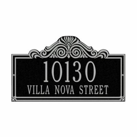 Whitehall Villa Nova Two Line Standard Wall Plaque