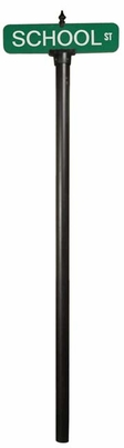 Vista Series 3inch O/D Smooth Breakaway Pole with Top Mounting Sign Bracket and Finial