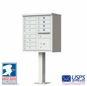 CBU - 12 Tenant Boxes Cluster Mailbox In Postal Grey