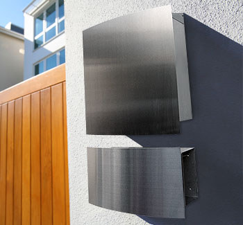 Wall Mailbox and Newspaper Holder Stainless Steel Contemporary Style