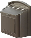 Whitehall Wall Mailbox Removable Locking Insert - Bronze