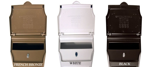 beautiful whitehall custom wall mount mailbox with removable locking insert bronze with wall mount locking mailboxes - Locking Mailboxes