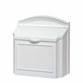 Whitehall Wall Mailbox with Removable Locking Insert - White