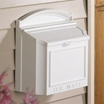 Whitehall Wall Mailbox Removable Locking Insert - White
