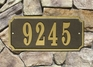 Waterford Quick Ship Rectangle Plaque (Up to 5 Numbers)