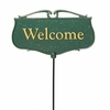 Whitehall Welcome Garden Sign (Green/Gold)