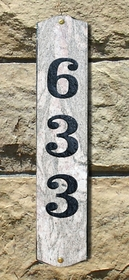 Wexford Vertical Address Plaque in Five Color solid granite w/Engraved Text