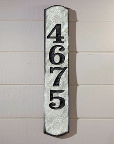 Wexford Vertical Solid Granite Address Plaque With Engraved Text - Quartzite