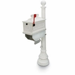 White 1812 Beaumont Mailbox System
