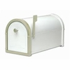 White Bellevue Mailbox with White Bronze Accents