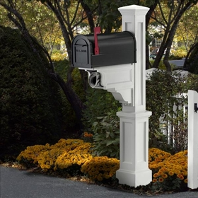 White Dover Mailbox Package