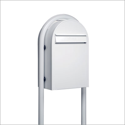 USPS Bobi Classic White Front Access Mailbox (Post Sold Separately)