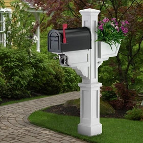 White Signature Plus Mailbox Package