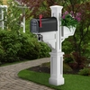 Signature Plus Mailbox Post White