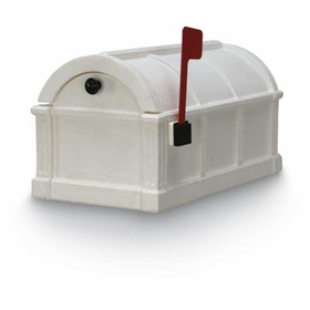 White Sunset Pointe Rural Plastic Mailbox