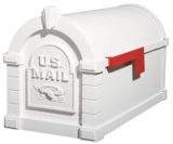 Original Keystone Series Mailbox - White with White Eagle