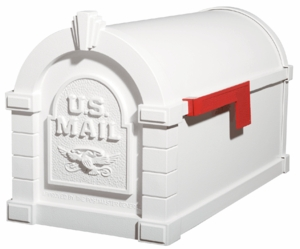 White with White Original Keystone Series Accents Mailbox - KS-15