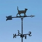 "Whitehall 30"" Traditional Directions CAT STANDING Weathervane in Black for Roof or Garden"