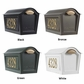 Whitehall Standard Chalet Mailbox Package - Black