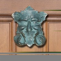 Whitehall Garden Smile Knocker (Solid Brass) - Verdigris Finish