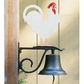 Whitehall Large Bell with Rooster Ornament Black