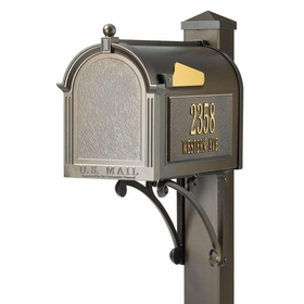 Whitehall Superior Bronze Mailbox Package