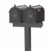 Whitehall Mailboxes: Side Mount Double Cluster Mailbox Package