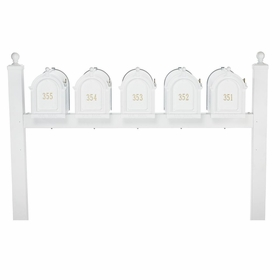 Whitehall Multi Mailbox Quint Package - White