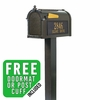 Whitehall Premium Streetside Mailbox Package in Bronze
