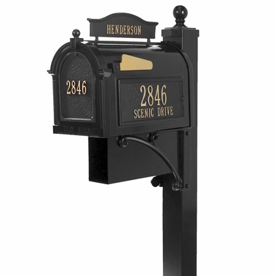 Whitehall Ultimate Mailbox Package in Black