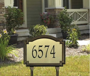 Whitehall Williamsburg Artisan Metal Estate Lawn Address Sign - One Line