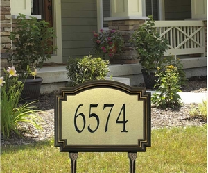 Whitehall Williamsburg Artisan Metal Standard Lawn Address Sign - One Line
