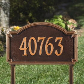 Whitehall Williamsburg One Line Estate Lawn Address Sign