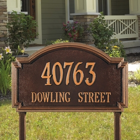 Williamsburg Two Line Estate Lawn Address Sign