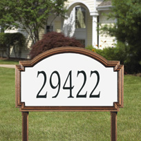 Whitehall Williamsburg - Estate Reflective Lawn Address Sign - One Line
