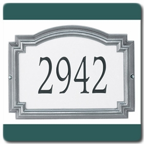 Whitehall Williamsburg - Standard Reflective Lawn Address Sign - One Line