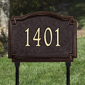 Williamsburg - One Line Standard Lawn Address Sign