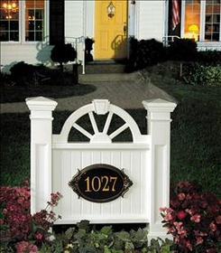 Winchester Address Sign in White (address plaque sold separately)