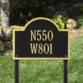 Whitehall Wisconsin Special Standard Two Line Lawn Address Sign