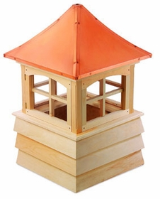 "Wood Guilford Cupola 48"" Sq X 73"" H"