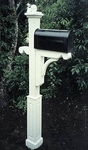 Wooden Mailbox Post by New England Woodworks