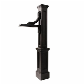 Woodhaven Sign Post in Black (post only - address plaques sold separately)