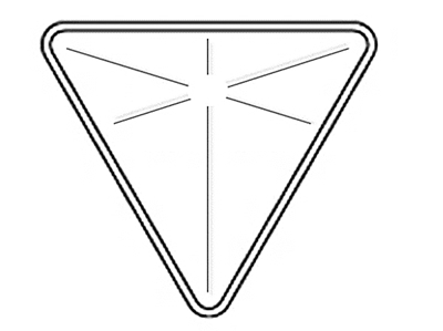"""Yield Sign Backplate 30"""""""
