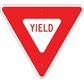 Yield Sign Reflective Faceplate 30""