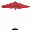 9' Wood Market Umbrella with Olefin