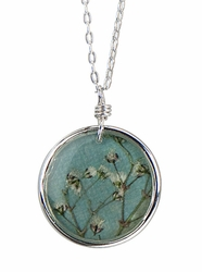"Baby's Breath 16"" Med Rd Necklace-Blue"